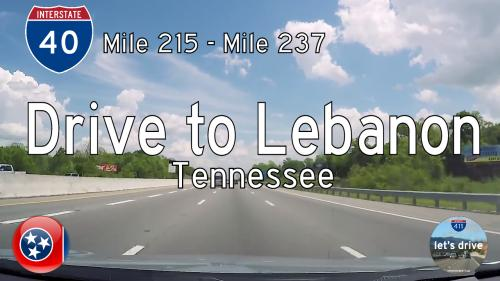Interstate 40 - Mile 215 to Mile 237 - Tennessee
