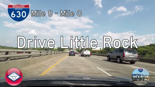 Interstate 630 – Mile 8 to Mile 0 – Arkansas