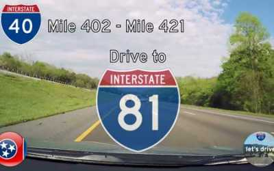 Interstate 40 – Mile 402 to Mile 421 – Tennessee