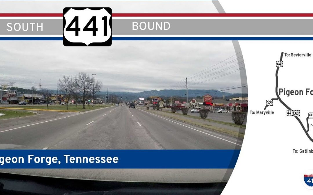 U.S. Highway 441 South in Pigeon Forge, Tennessee