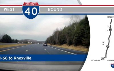 Interstate 40 West – Mile 407 to Mile 396 – Tennessee