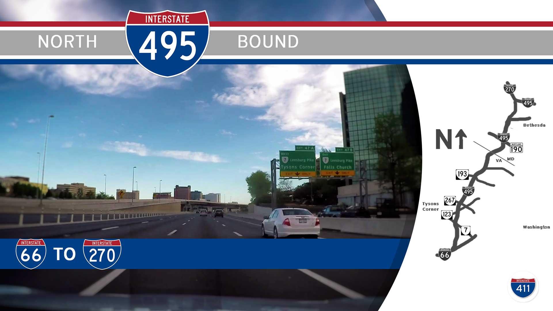 Interstate 495 - Virginia I-66 to Maryland I-270