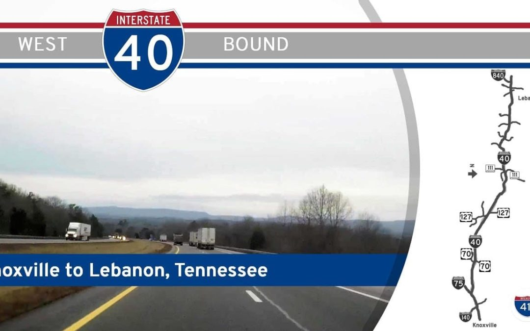 Interstate 40 West – Knoxville to Lebanon – Tennessee