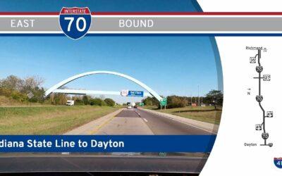 Interstate 70 – Richmond to Dayton – Ohio