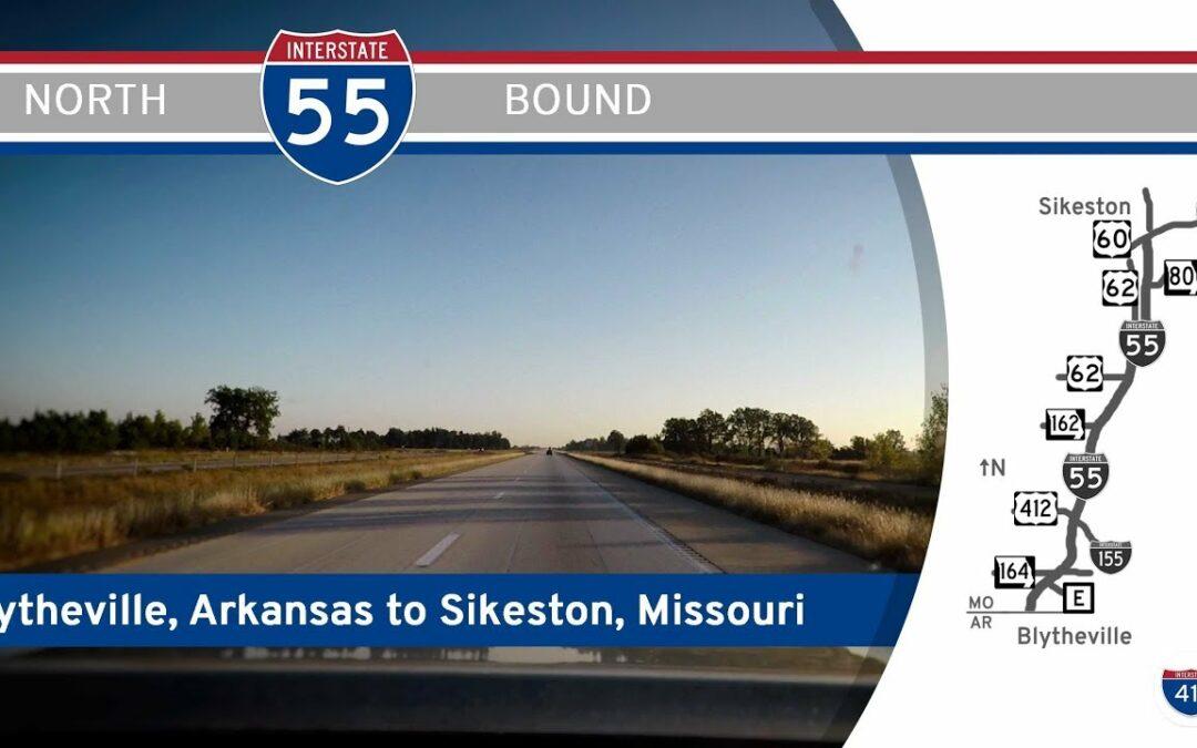 Interstate 55 – Arkansas to Sikeston – Missouri