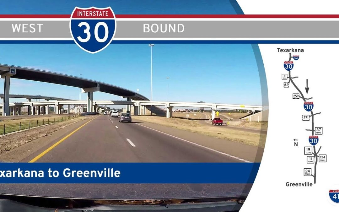 Interstate 30 – Texarkana to Greenville – Texas