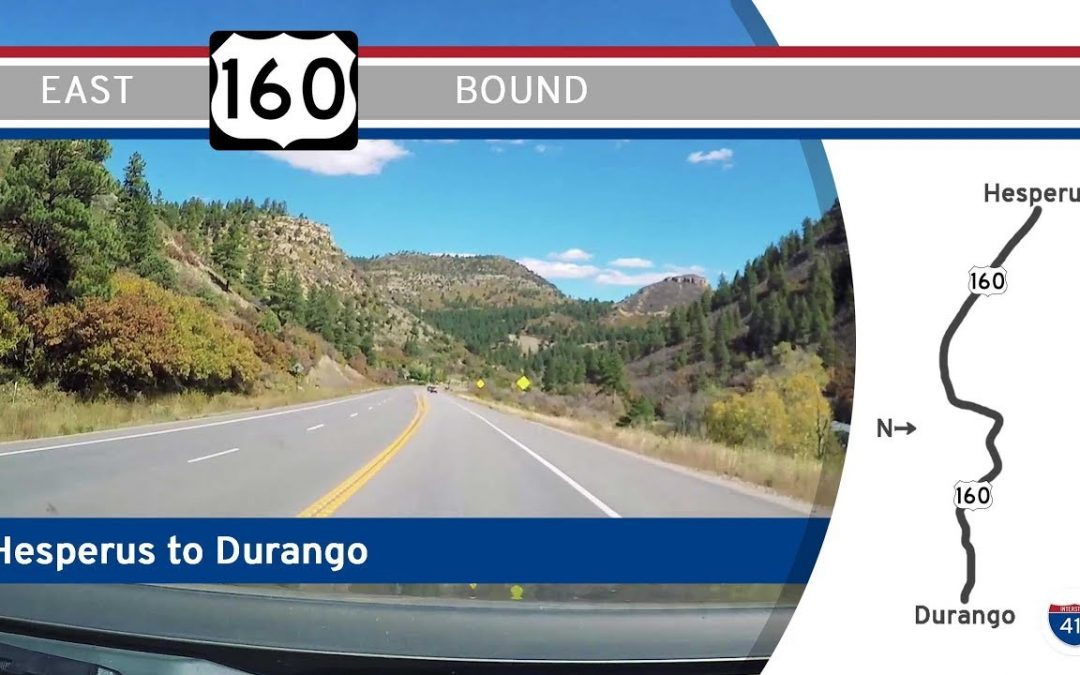 U.S. Highway 160 – Hesperus to Durango – Colorado