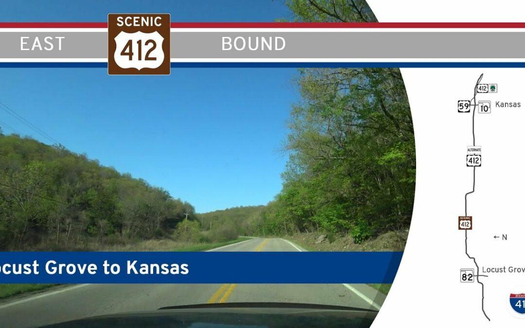 U.S. Highway 412 Alternate – Locust Grove to Kansas – Oklahoma