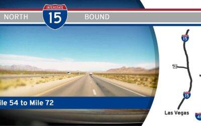 Interstate 15 – Mile 54 to Mile 72 – Nevada