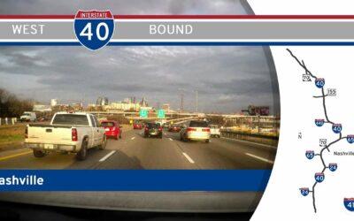 Interstate 40 West in Nashville – Tennessee