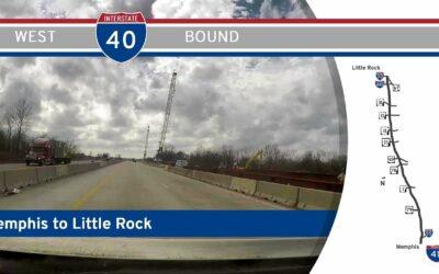 Interstate 40 – Memphis to Little Rock – Arkansas