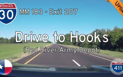 Interstate 30 – Mile 183 to Hooks – Texas