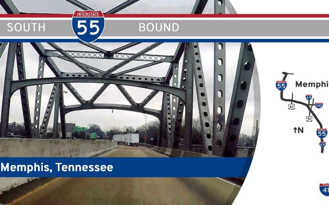 Interstate 55 South in Memphis – Tennessee
