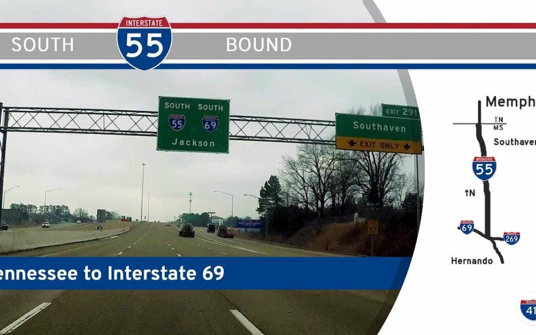 Interstate 55 -Tennessee to Hernando – Mississippi