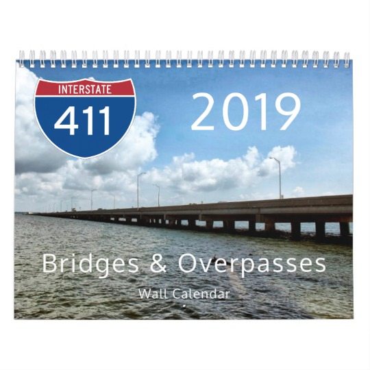 2019 Bridges & Overpasses Wall Calendar