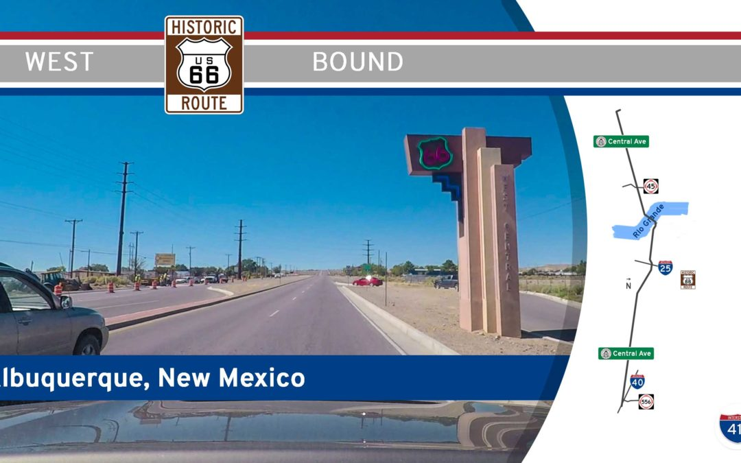 Historic Route 66 in Albuquerque – Central Ave – New Mexico