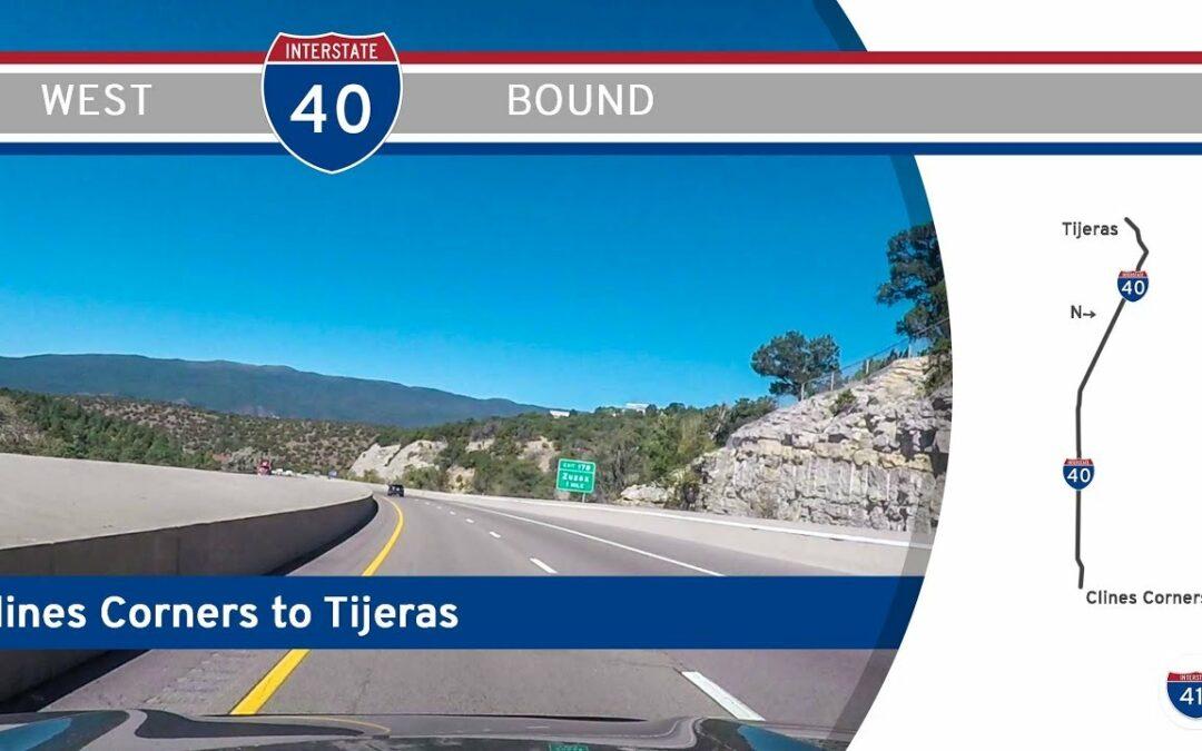 Interstate 40 – Clines Corners – Tijeras – New Mexico