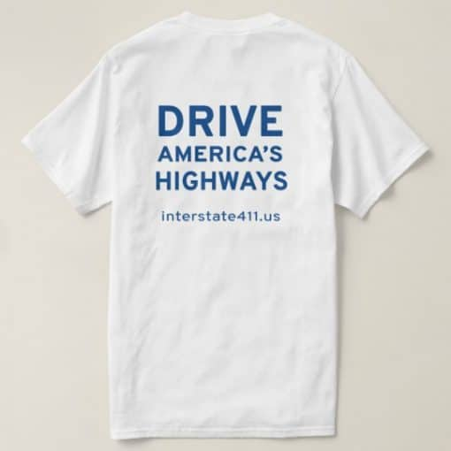Drive America's Highways - Blue T-Shirt drive america's highways t-shirt