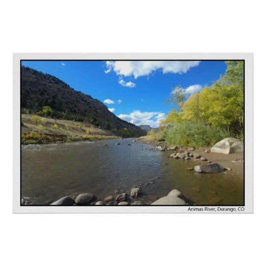 Poster – 24×36 – Animas River – Durango, CO