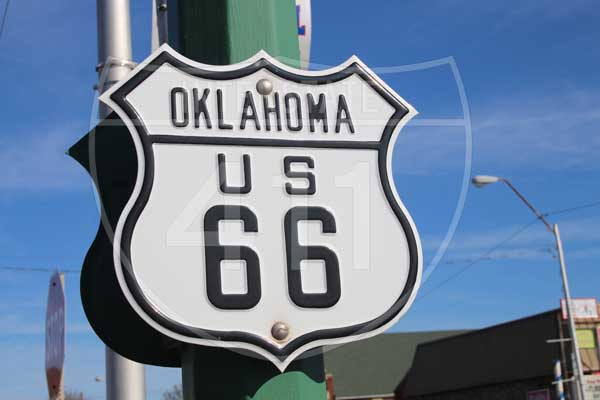 Oklahoma Route 66 Shield – Digital Download
