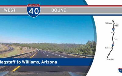 Interstate 40 – Flagstaff to Williams – Arizona