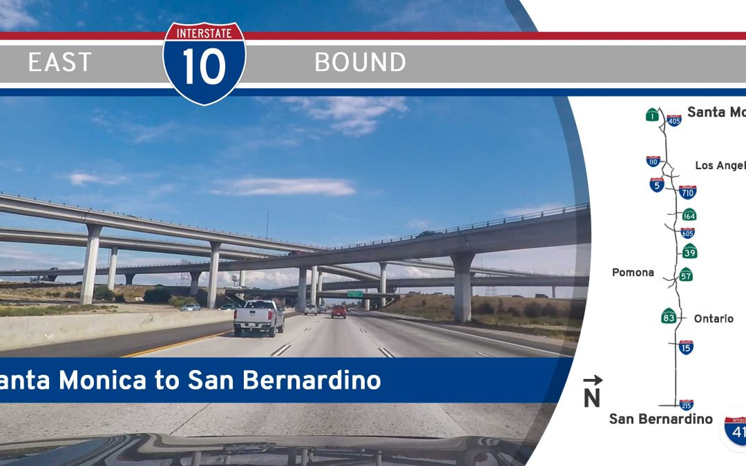 Interstate 10 – Santa Monica to San Bernardino – California