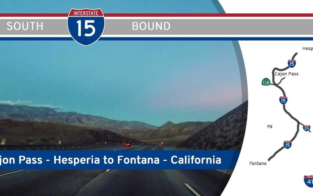 Interstate 15 – Hesperia to Rancho Cucamonga – California (Cajon Pass)
