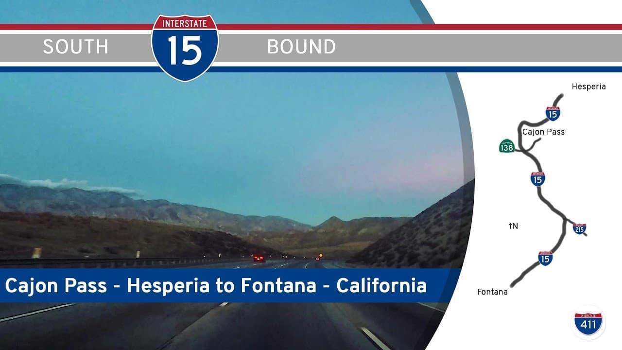 Interstate 15 – Hesperia to Rancho Cucamonga – California (Cajon Pass)