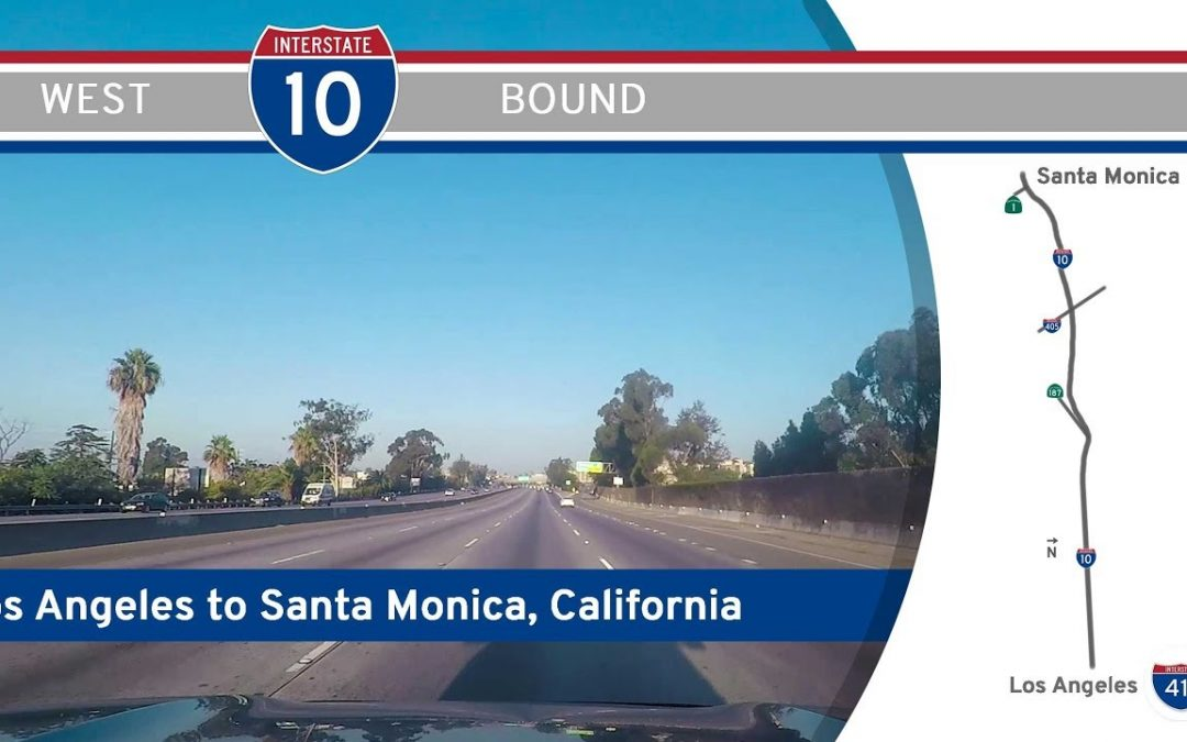 Interstate 10 – Los Angeles to Santa Monica – California
