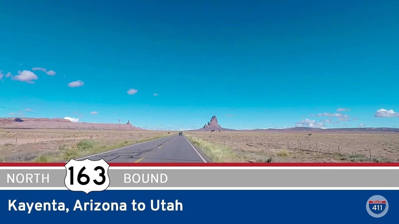 US Highway 163 – Kayenta to Utah – Arizona