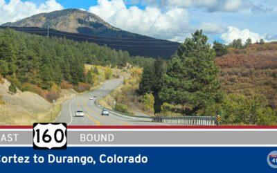 U.S. Highway 160 – Cortez to Durango – Colorado