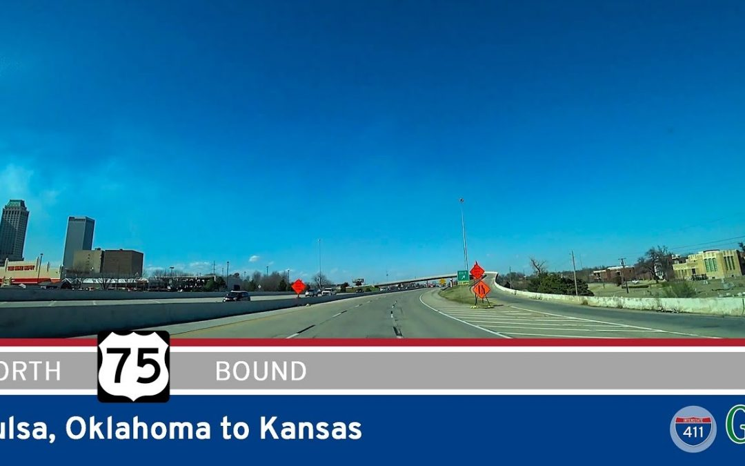 US Highway 75 – Tulsa to Kansas – Oklahoma