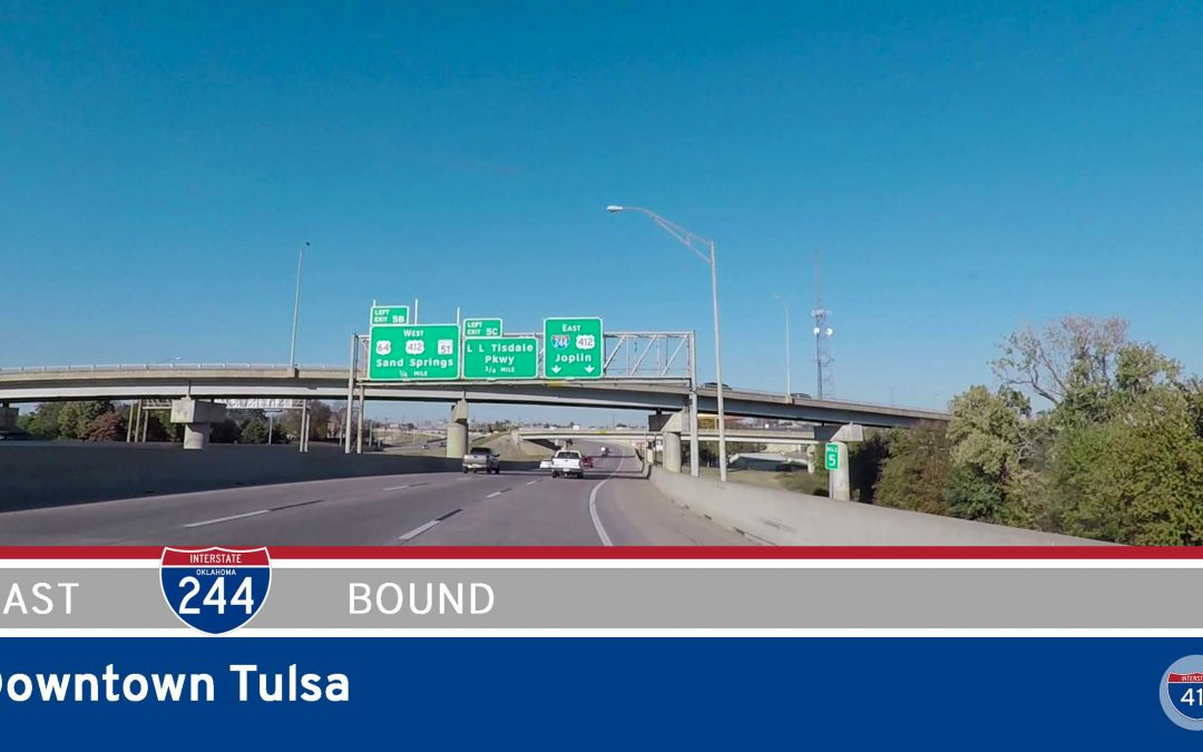 Interstate 244 – Downtown Tulsa – Oklahoma