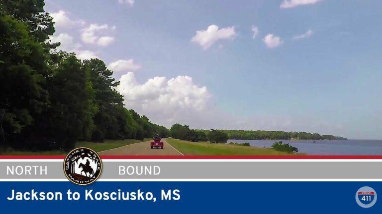 Natchez Trace Parkway - Jackson to Kosciusko - Mississippi
