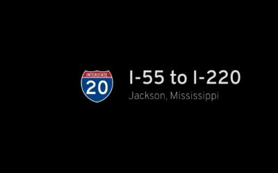 SHORT: Interstate 20 – I-55 to I-220 – Jackson – Mississippi