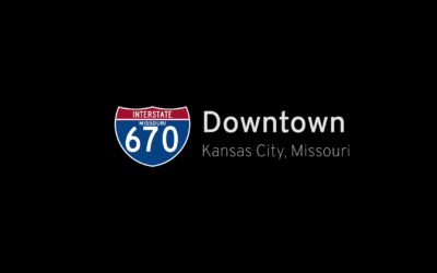 Interstate 670 West in Downtown Kansas City – Missouri