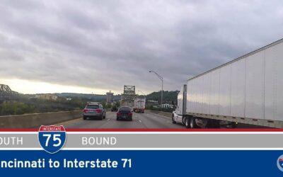 Interstate 75 – Cincinnati to Interstate 71 – Kentucky