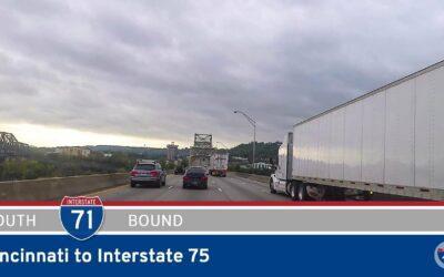 Interstate 71 – Cincinnati to Interstate 75 – Kentucky
