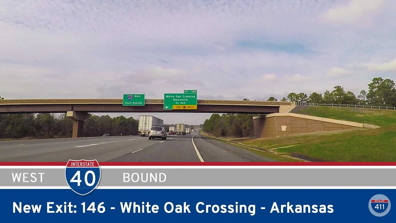 Interstate 40 - New Exit 146 - White Oak Crossing - Arkansas exit 146