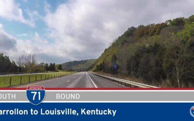 Interstate 71 – Carrollon to Louisville – Kentucky