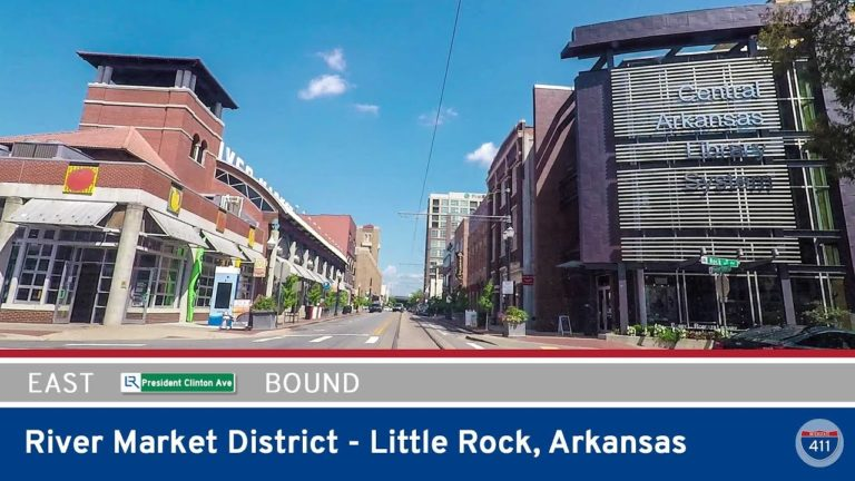 President Clinton Ave in Little Rock - Arkansas