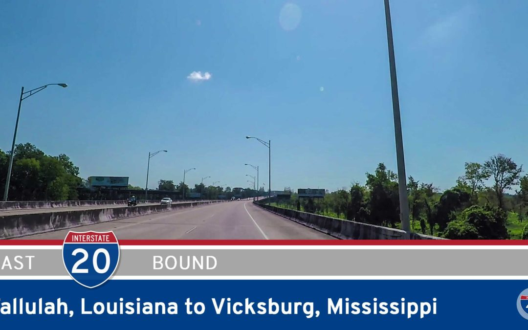 Interstate 20 – Tallulah to Vicksburg – Louisiana
