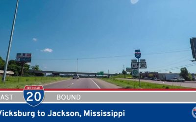 Interstate 20 – Vicksburg to Jackson – Mississippi