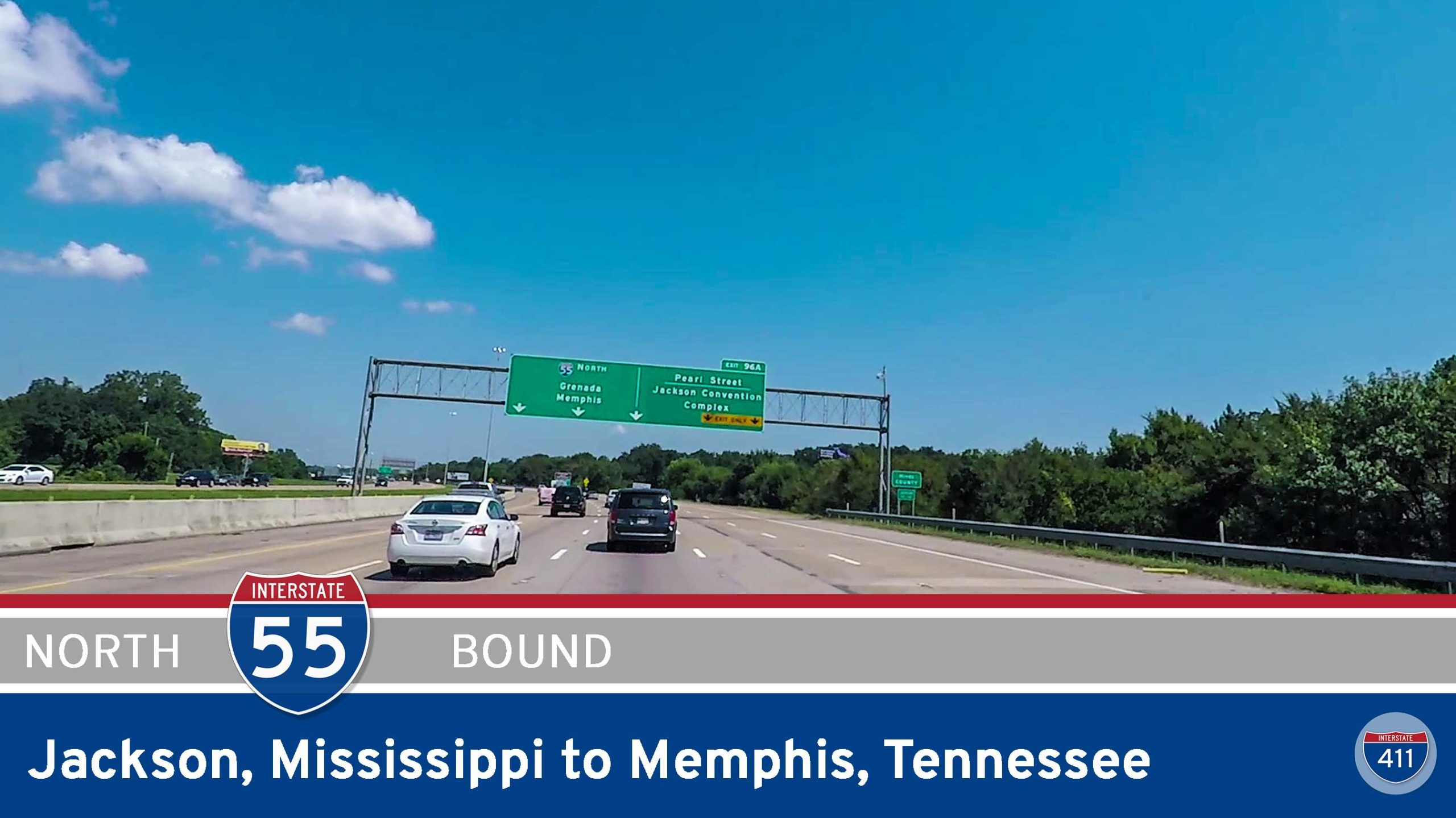 Interstate 55 - Jackson to Memphis - Mississippi