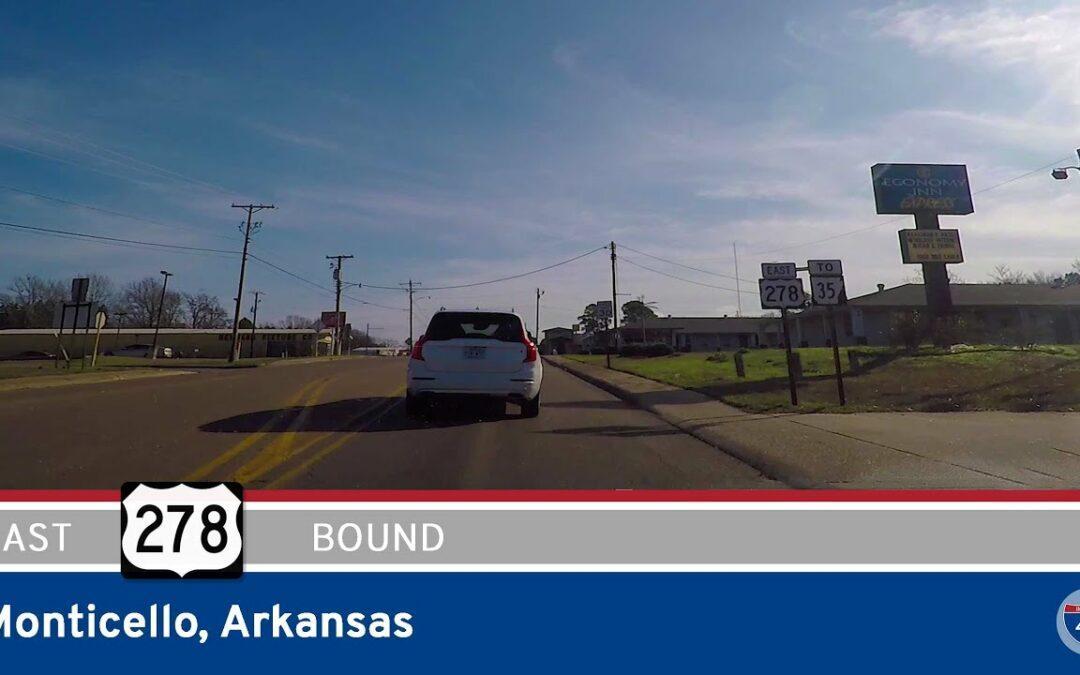 U.S. Highway 278 East in Monticello – Arkansas