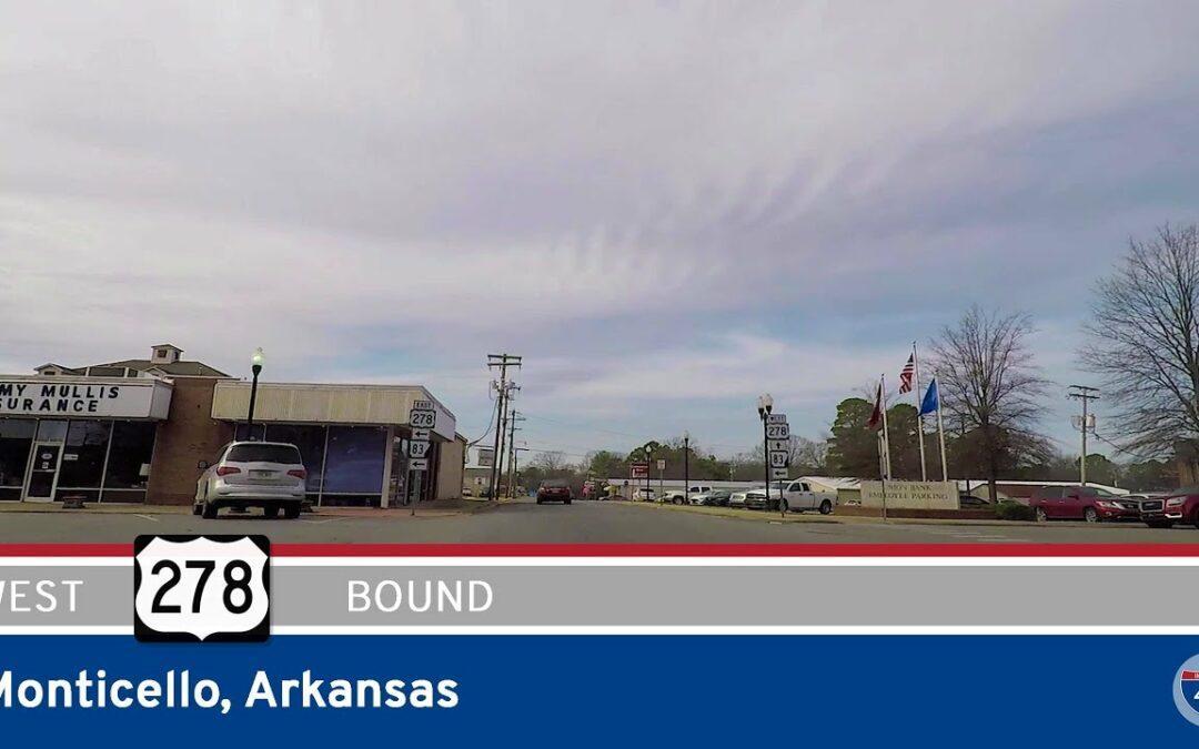 U.S. Highway 278 West in Monticello – Arkansas