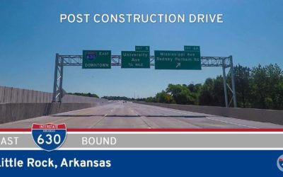 Interstate 630 Eastbound in Little Rock Arkansas