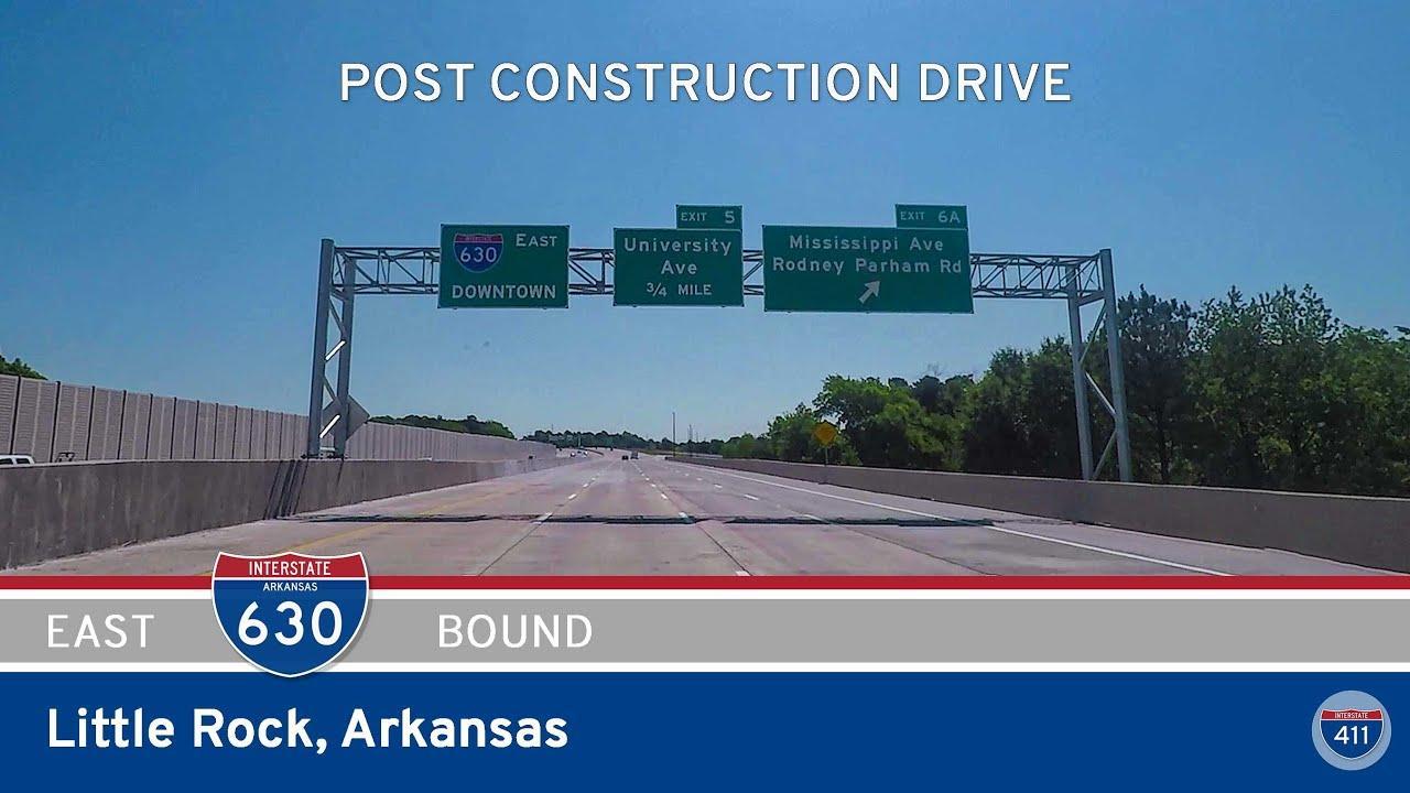 Interstate 630 Eastbound in Little Rock Arkansas