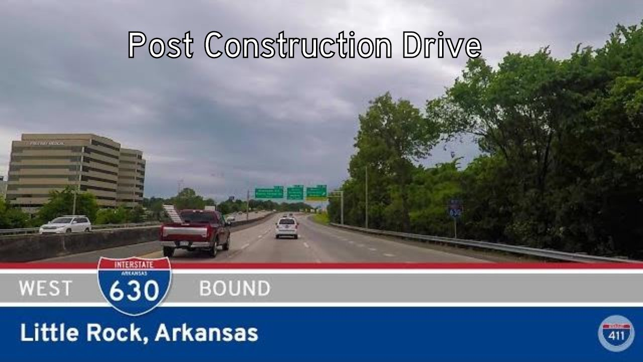 Drive America's Highways for 8 miles along Interstate 630 Westbound in Little Rock, from Interstate 30 to Interstate 430.