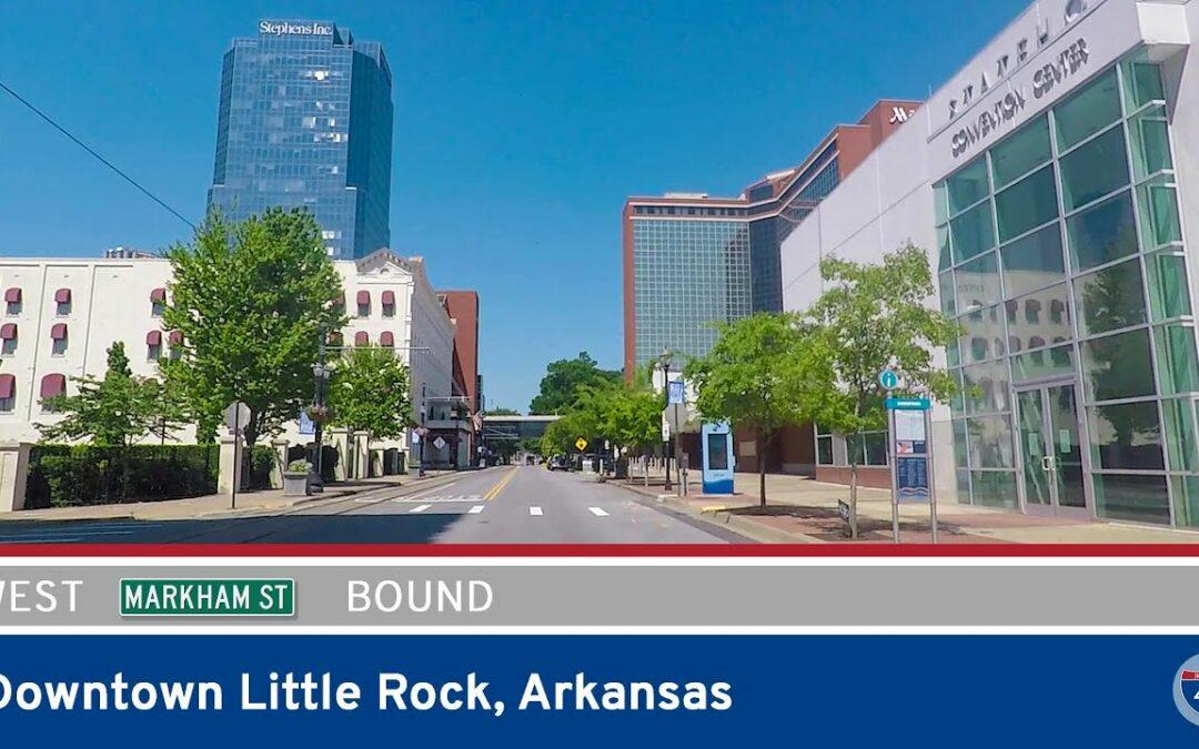 Markham Street Westbound in Downtown Little Rock